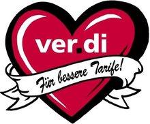 Herz-Logo: ver.di Handel - für bessere Tarife