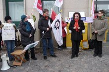 27.3.2013: Protest vor der Ulmer Hauptpost zum Jahrestag der Verweigerung einer Schlecker-Transfergesellschaft