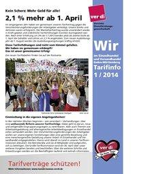 """Tarifinfo """"Wir im Einzelhandel"""" Baden-Württemberg Nr. 1-2014 (April 2014)"""