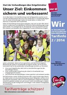 """Tarifinfo """"Wir im Einzelhandel"""" Nr. 2-2014"""