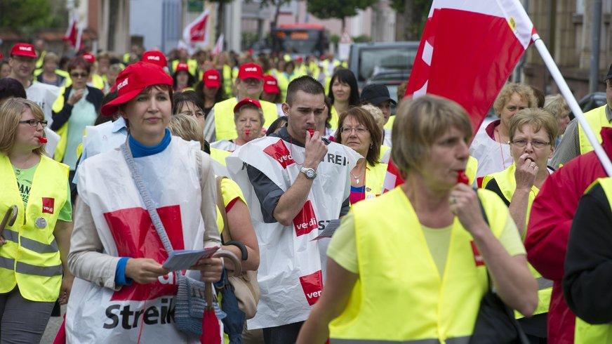4.7.2013 - Bei der Streik-Demonstration in Ettlingen