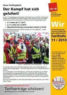 Tarifinfo Wir im Einzelhandel Nr. 11 - 2013