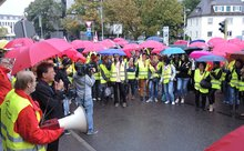 26.09.2013 - Protest vor dem Verhandlungslokal in Asperg