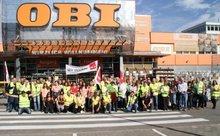 25.9.2013: Streik bei OBI Leinfelden-Echterdingen
