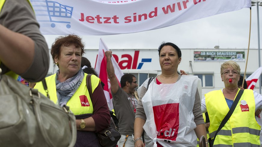 4.7.2013 - real-Streiktag in Ettlingen