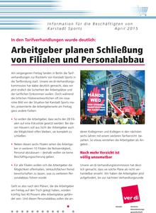 Karstadt-Info vom April 2015