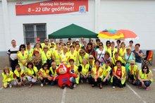 22.6.2013: Die Streikenden bei real Sandhofen