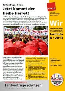 Tarifinfo Wir im Einzelhandel Nr. 8 - 2013
