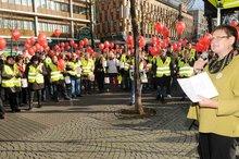 11.11.2013: Leni Breymeier bei der Kundgebung in Mannheim