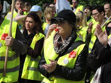 4.6.2013: Protest vor dem Verhandlungslokal in Sindelfingen