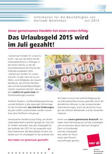 Karstadt-Info vom Juli 2015