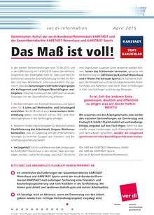 Karstadt-Info vom 20.04.2015