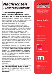 exChains-Nachrichten (11/2016)