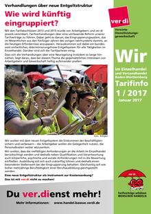 WIR im Einzelhandel und Versandhandel BaWü (Tarifinfo 01/2017)