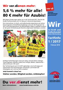 WIR im Groß- und Außenhandel BaWü (Tarifinfo 01/2017)