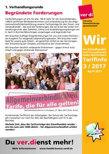 WIR im Einzelhandel und Versandhandel BaWü (Tarifinfo 03/2017)