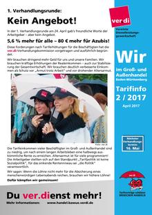 WIR im Groß- und Außenhandel BaWü (Tarifinfo 02/2017)