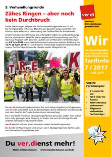 WIR im Einzelhandel und Versandhandel BaWü (Tarifinfo 07/2017)