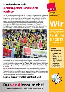 WIR im Einzelhandel und Versandhandel BaWü (Tarifinfo 05/2017)