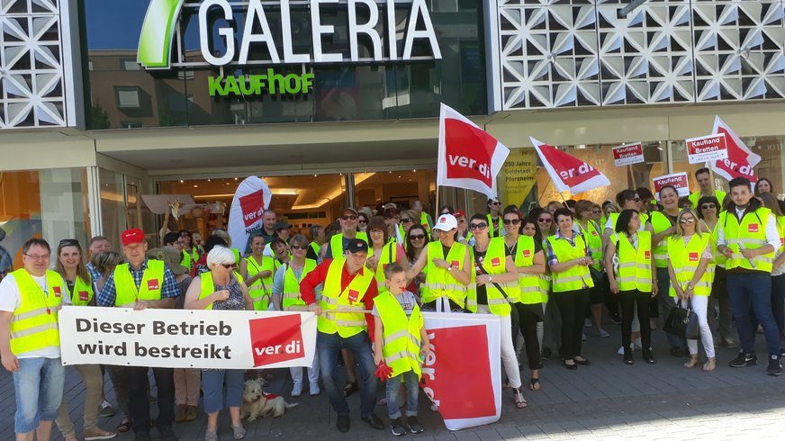 Warnstreiks im baden-württembergischen Einzelhandel