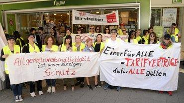 Streik im Mannheimer Einzelhandel am 31.5.2019