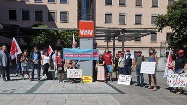 Solidaritätsaktion mit Galeria Hamburg